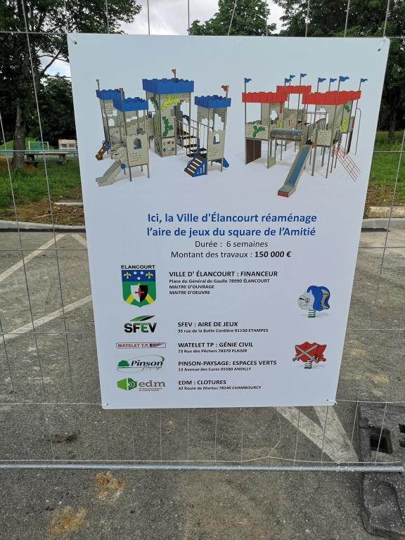 CASQY et La Ville d'Elancourt - Le Square de l'Amitié